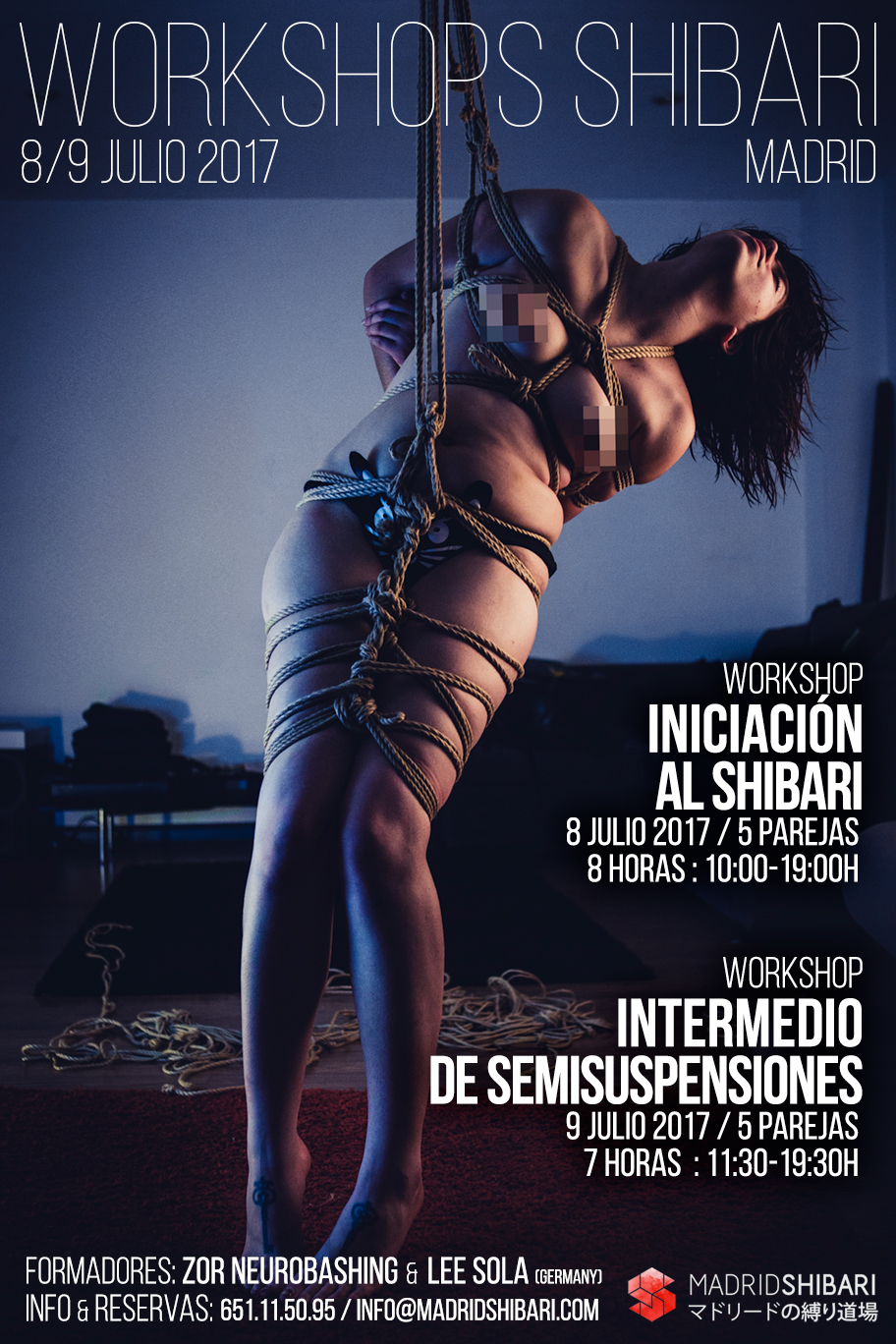 Workshop INTERMEDIO DE SEMISUSPENSIONES (Madrid) @  Madrid Shibari Dojo. | Madrid | Comunidad de Madrid | España