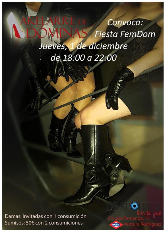 Fiesta FemDom-Cuero Fetish organizada por el Akelarre de Dóminas en Madrid @ Despoiler Liberal Pub | Madrid | Comunidad de Madrid | España