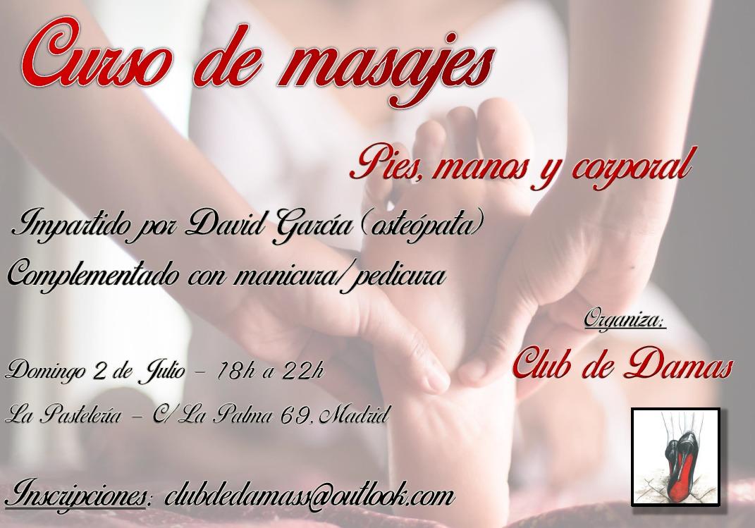 CURSO DE MASAJES EN EL CLUB DE DAMAS-MADRID @ La Pastelería BDSM